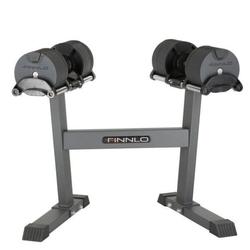 Hantle systemowe ze stojakiem smartlock 32 kg - finnlo - 2 x 32 kg