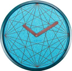 Zegar ścienny Calmest Nextime turkusowy 3199