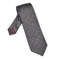 Elegancki szary krawat van thorn w białe kropki