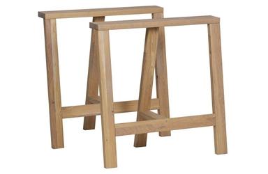 Woood zestaw 2 podstaw do stołu panel dąb 375006-eik