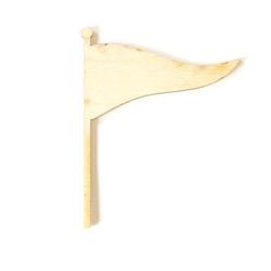 Drewniana FLAGA 7,5x9,5 cm