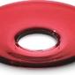 Okapnik do świecy lumi płaski 8,5 cm czerwony