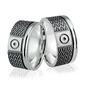 Obrączki srebrne - wzór ag-187