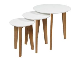 Zestaw trzech stolików do salonu alin skandynawski