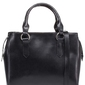 Czarna klasyczna pojemna torebka na rączkach