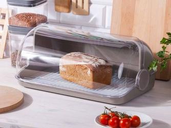 Chlebak  pojemnik na pieczywo z tworzywa sztucznego lamela taupe