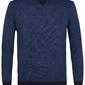 Elegancki niebieski sweter z grubym ściągaczem xl