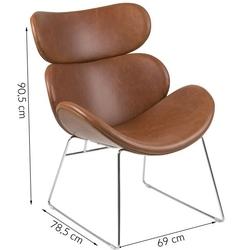 Fotel berlin brązowy vintage