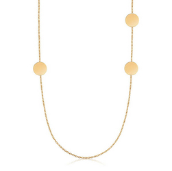 Staviori Naszyjnik 45cm. Żółte Złoto 0,585. Średnica 6,8 mm.  Długość regulowana 45cm lub 42cm.