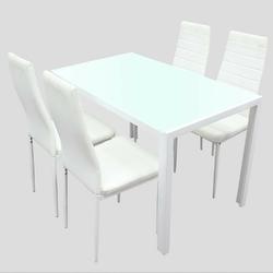 Zestaw stołowy rubio stół 112x76 z 4 krzesłami biały