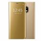 Etui Clear View cover Samsung Galaxy J7 2017 Złote + Szkło - Złoty