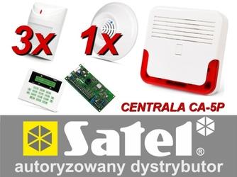Alarm satel ca-5 lcd, 3xaqua pet, 1xdg-1 tcm, syg. zew. sd-6000 - szybka dostawa lub możliwość odbioru w 39 miastach