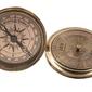 Authentic models mosiężny kompas z 40-letnim kalendarzem co031