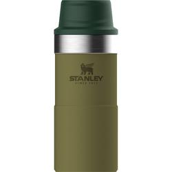 Kubek termiczny obsługiwany jedną ręką Stanley Trigger Classic oliwkowy 0,35L 10-06440-018
