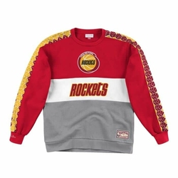 Bluza Mitchell  Ness Leading Scorer Fleece Crew Houston Rockets - FCNKDF18025-HROSCAR - Houston Rockets -