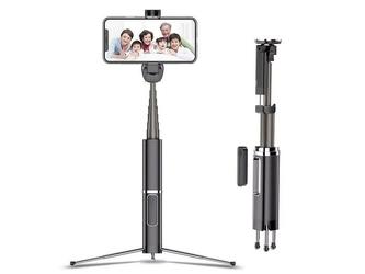 Usams selfie stick monopod statyw kijek bluetooth uchwyt czarny - czarny