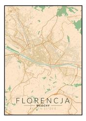 Florencja mapa kolorowa - plakat wymiar do wyboru: 60x80 cm