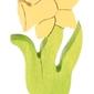 Drewniana figurka, kwiat narcyz, grimms