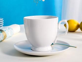 Filiżanka do cappuccino ze spodkiem porcelana mariapaula biała
