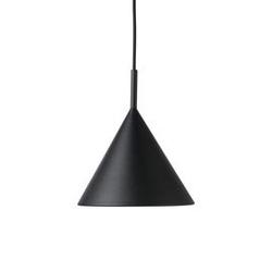 Hk living :: lampa wisząca triangle metalowa czarna mat, rozm m