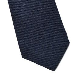 Wełniany krawat van thorn w kolorze denimu