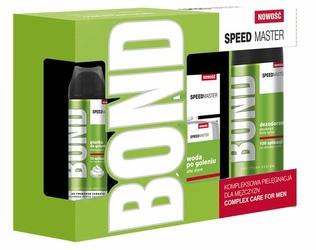 Bond Speed Master, Zestaw upominkowy dla mężczyzn, 3 elementy, woda po goleniu, dezodorant, pianka do golenia