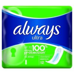 Always ultra normal, podpaski higieniczne  bez skrzydełek, 12 sztuk
