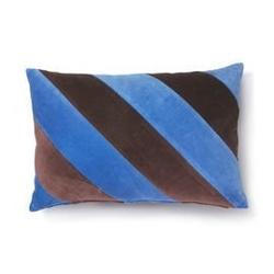 Hk living :: poduszka velvet w paski niebieskifioletowy 40x60