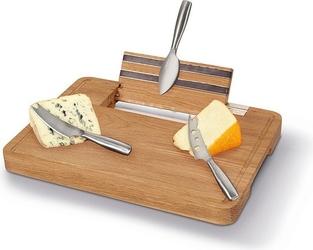 Zestaw do serwowania serów z deską i nożami party
