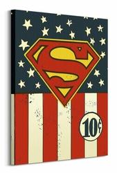 DC Comics Superman Flag 10c - Obraz na płótnie