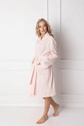 Aruelle Marshmallow Pink Short szlafrok damski