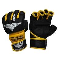 Beltor rękawice mma combat czarno-żółty b0061