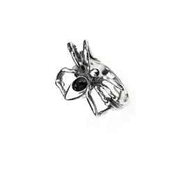 pierścionek rozmiar 10 srebrny oksydowany pająk