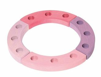 Drewniany Pierścień Urodzinowy, różowo-fioletowy, Grimm's - różowo-fioletowy