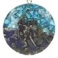 Orgonit - archanioł michał, lapis lazuli, błękitny topaz wisior