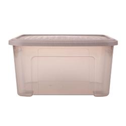 Pojemnik  organizer do przechowywania modułowy tontarelli combi box z pokrywką arianna taupe 13 l