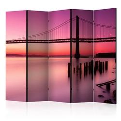 Parawan 5-częściowy - purpurowy wieczór ii room dividers