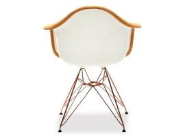 Fotel tunis pomarańczowy welur nowoczesny