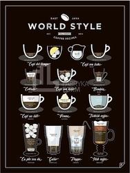 Plakat world style coffee 30 x 40 cm