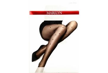 Emmy R08 MARILYN rajstopy w gwiazdki i złotym brokatem