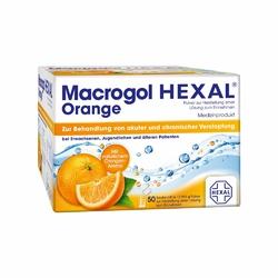 Macrogol Hexal Proszek na zaparcia o smaku pomarańczowym
