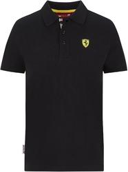 Koszulka polo dziecięca scuderia ferrari f1 czarna - czarny