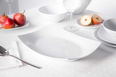 Półmisek porcelana mariapaula moderna biała 33 cm prostokątny