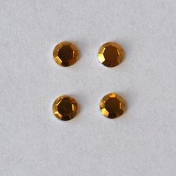 Dżety Hot Fix okrągłe 3 mm60szt. - żółty - ŻÓŁ
