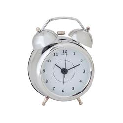 Budzik srebrny 12,5 cm Wake Up Nextime