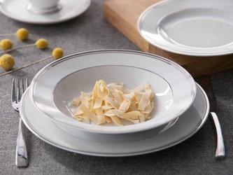 Talerz głęboki do zupy porcelana mariapaula platynowa linia 23 cm