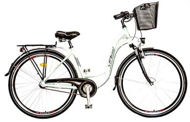 Rower rland 28 elaidy 3-biegi, piasta prądnica pistacja