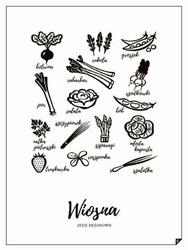 Plakat Wiosna - Jedz sezonowo 21 x 30 cm