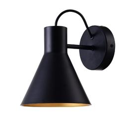 Kinkiet czarny klosz ze złotym wnętrzem more candellux 21-71149