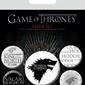 Gra o tron Winter is Coming - przypinki z serialu